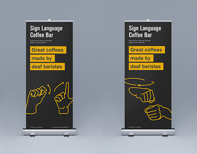 Sign Language Coffee Bar banners