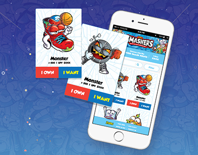 Smashers Collectors App for Android and iPhone on Behance
