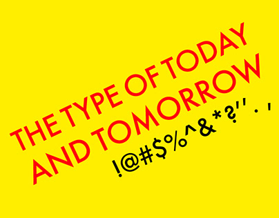 FUTURA: THE TYPE OF TODAY AND TOMORROW