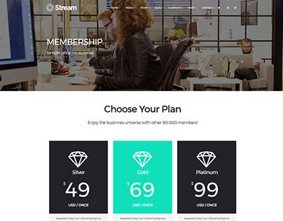 Membership - Stream WordPress Theme