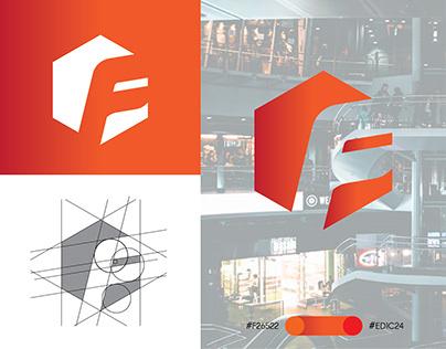 F Letter Logo Design - Negative Space Logo