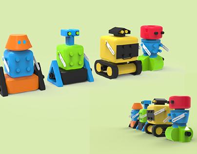 TOY DESIGN- COLLECTIBLE ROBOTS