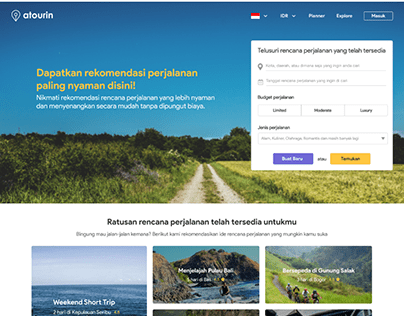 Atourin Landing Page Redesign 2020