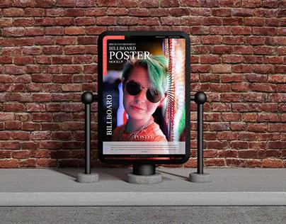 Bricks Environment Billboard Poster Mockup Free
