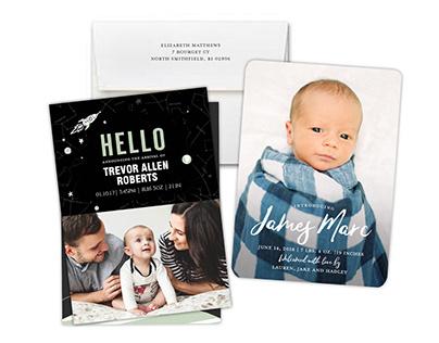 BABY photocards & invitations