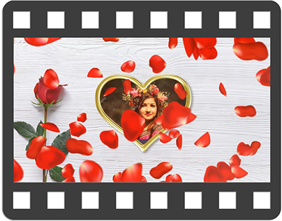 Romantic Animated greeting card