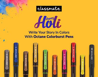 ITC Classmate Holi Social Media Creative