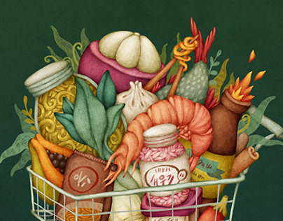 Shopping Cart - Editorial Illustration
