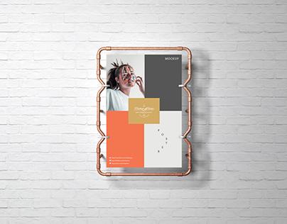 Studio Branding Poster Mockup