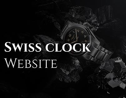 Swiss Clock Website Concept