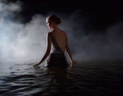 Lady smoke and water