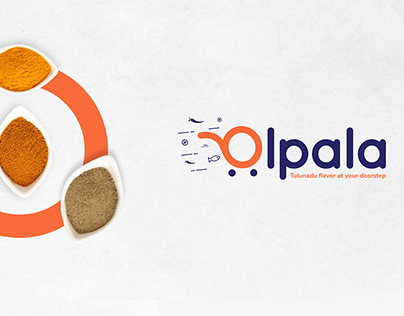 Olpala logo and branding concept