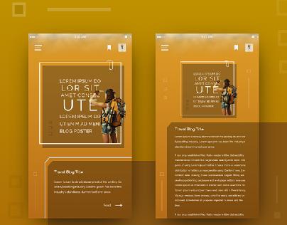 Mobile App - Blog Design