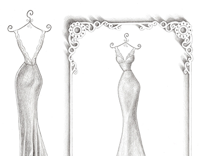 'Sharon' - Wedding Dress Illustration