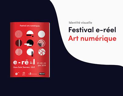 Identité visuelle | e-réel festival arts numériques