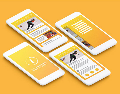 Personal project - UI design for index.hu's app