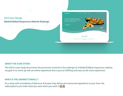 MARKETTOMEAL - REDESIGNING UX CASE STUDY