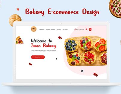 Junos Bakery / E-commerce Store Design