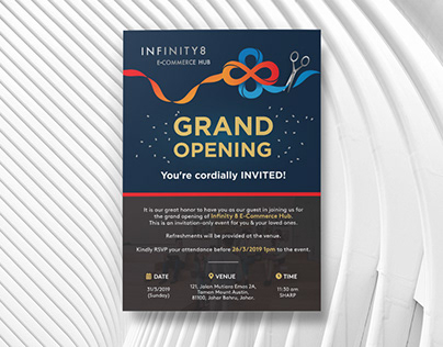 infinity 8 invitation card
