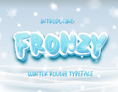 Fronzy – Winter Rough Typeface