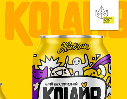 """Can design for cola beverage """"Colive"""""""