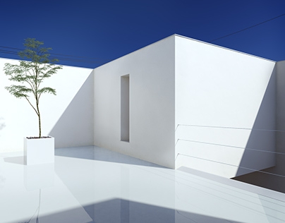 White Cave House - Full CGI Exterior and Interior