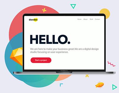 Landing page design | dasdas.net