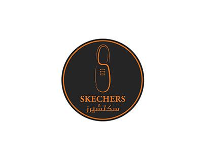 سكتشيرز - SKECHERS Shoe Store Logo Design