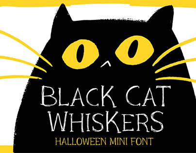 Black Cat Whiskers - Halloween Mini Font!