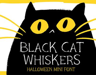 Black Cat Whiskers - Halloween Mini Font!