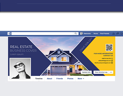 real estate Facebook cover design