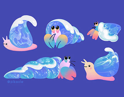 Ocean Wave shells Themes