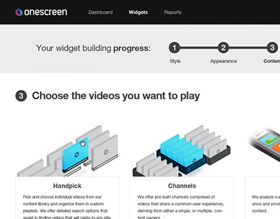 OneScreen Web App Design