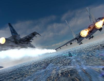 su33 fly on sky
