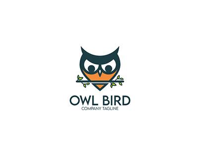 owl bird logo design
