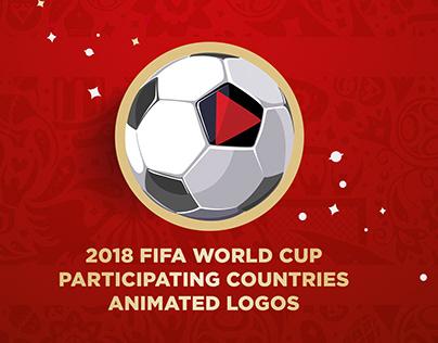 2018 FIFA World Cup participants animated logos