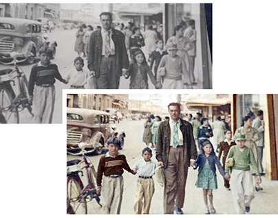 Colorisation of a street photograph