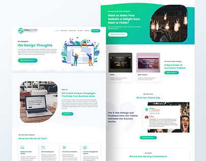 Web Design Agency Home / Landing Page Design