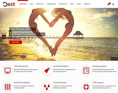 Best – Multipurpose Responsive WordPress Theme