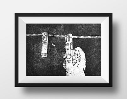 Etching-Illustration