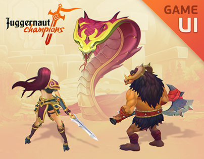 JUGGERNAUT CHAMPIONS - Mobile Game UI