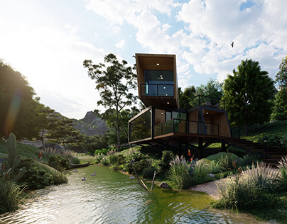 Lumion 10 Exterior - House in Wild