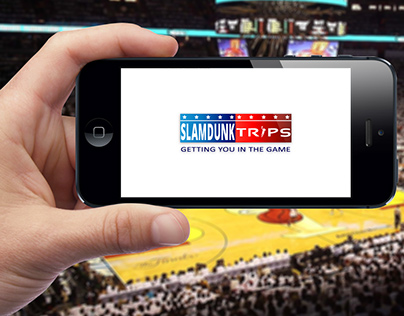 International NBA Basketball Travel Company Logo Design