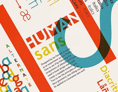 Human Sans - free typeface