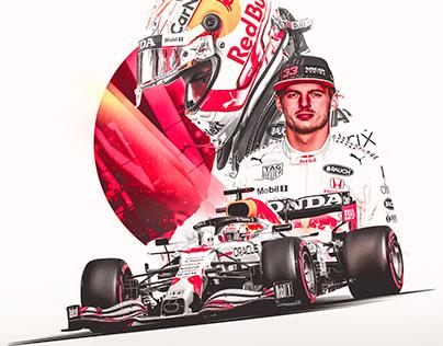 Max Verstappen Turkish GP Red Bull Honda Poster