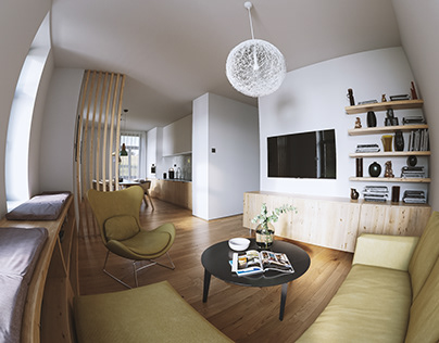 Living room and Kitchen + 360