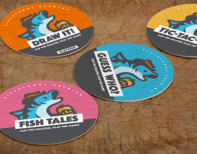 Rivertowne Brewing coasters | brand collateral