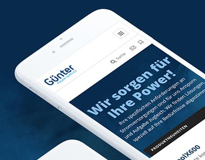 Günter Power Supplies website redesign