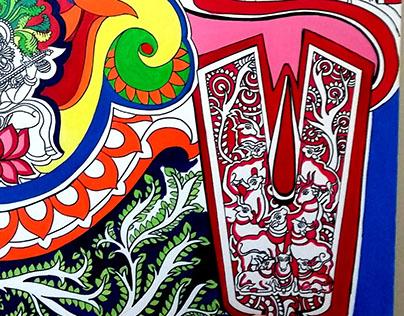 Wall Canvas for Mango Hotels (Bhubneshwar, Odisha)