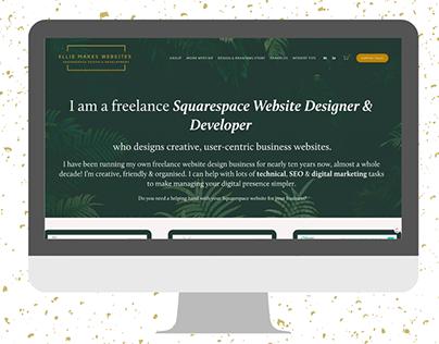 Freelance website design agency Squarespace 7.1 Website
